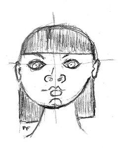 Femme visage rond