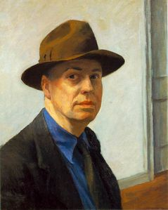 edward-hopper self-portrait