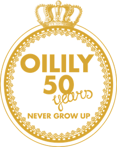 OILILY 50yrs logo gold