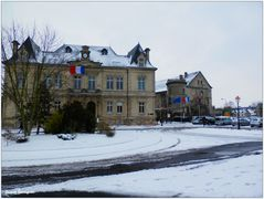 Creil Hotel de ville neige 12 mars 2013