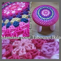 MANDALA TUTO TABOURET IKEA DIY
