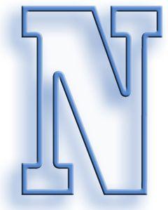 Lettrine (N Ourgang bleu qui rend heureux) le carnet de Jim
