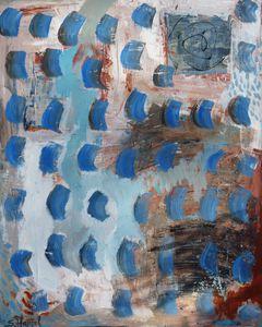 17- Je me souviens 2, acrylique sur toile 80 x 100 cm