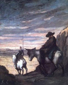 Daumier-Don-Quichotte-et-Sancho-Panza-1867