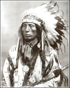 photo originale pour dessin d'indien chief jack red cloud