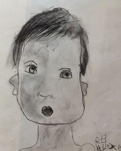 portrait fusain Alexandre2