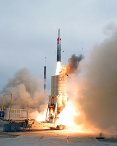 Arrow 2 missile photo IDF