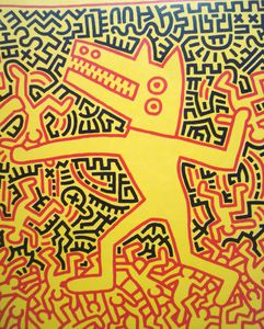 Keith Haring, l'Homme alligator, expo 2009 Mons BE
