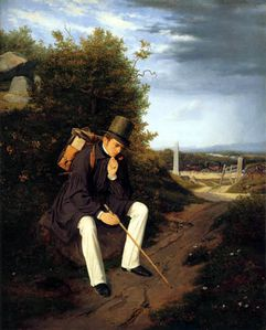 Werther Goethe - Jorgen Roed an artist resting by the Roads