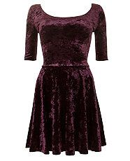 robe panne de velours pourpre new look 19.99