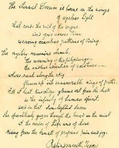 manuscrit tagore