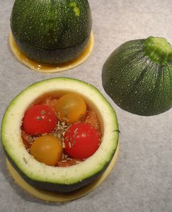 Courgette de nice farcie au petits lgumes