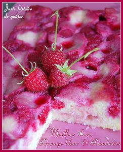 moelleux coco fromag framboises