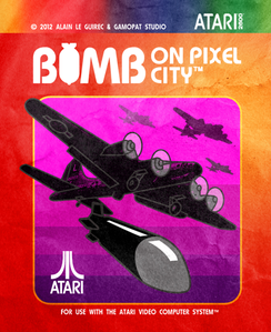 bomb on pixel city atari 2600