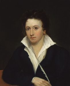 Percy Bysshe Shelley by Alfred Clint.