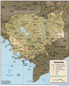 Cambodia 1997 CIA map