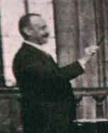 portrait, Ch B dirigeant les Chanteurs de St Gervais, BM p.