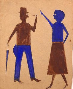 Bill Traylor - Talking couple, ca 1940 405