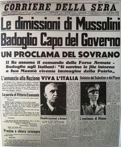 Corriere Sera 26 luglio 1943