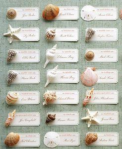 plan de table mariage à la mer