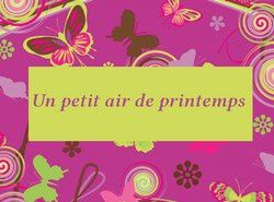 air de printemps
