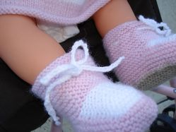 chaussons bebe tricot tuto