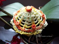 ombrelle-jaune-orange-decoration-crochet