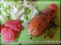 SAM 9138 Roulés de saumon marinés au chèvre frais et pam