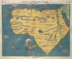 Antique Map Bunting Africa-copie-1