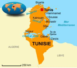 Tunisie-carte