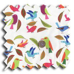 tissu oiseau multico M