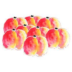 illustration nectarine à l'aquarelle