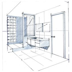 les plans perspectives et croquis la main le blog de philippe ponceblanc architecte d. Black Bedroom Furniture Sets. Home Design Ideas