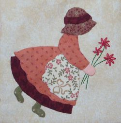 Sunbonnet et son bouquet