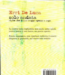 Erri De Luca solo andata copertina 2