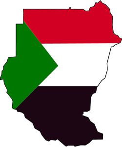 sudan map flag 300