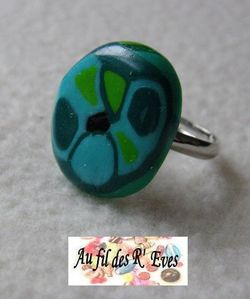 Turquoise graph bague