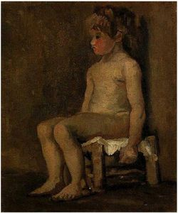 Nude-Study-of-a-Little-Girl,-Seated