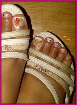 pedicure rouge et jaune (2)