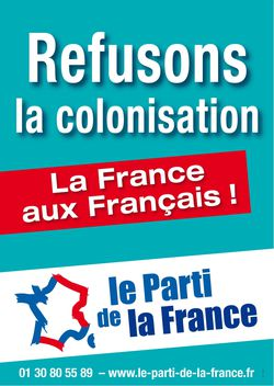 Affiche refusons la colonisation