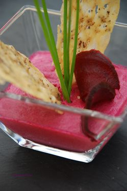 Panna cotta betteraves rouges