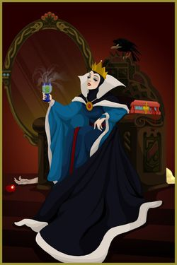 Disney-Villain-evil-queen-snow-white-winning-by-Justine-Tur.jpg