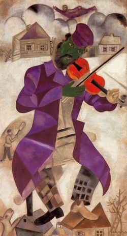 63 Chagall 23-24 Le Violoniste Vert Guggenheim NY
