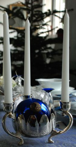 Table Noël bleu 181