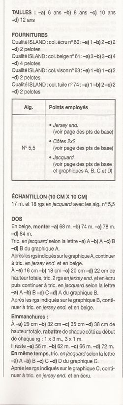 PULL JACQUARD FILLE 4-12 ANS EXPLICATIONS