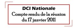 CR DCI nationale du 17 janvier