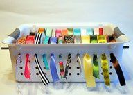 cheap way to organize ribbon - this is brilliant