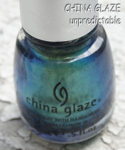 CHINA GLAZE unpredictable 01