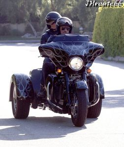 Johnny Hallyday Takes Wife Laeticia On A Motorcycl-copie-3