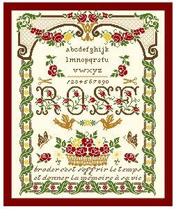 Marquoir aux roses rouge